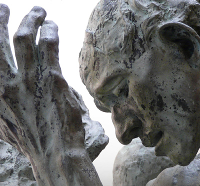 Auguste Rodin, detail from The Burghers of Calais. Photo by Tim Nighswander/IMAGING4RT